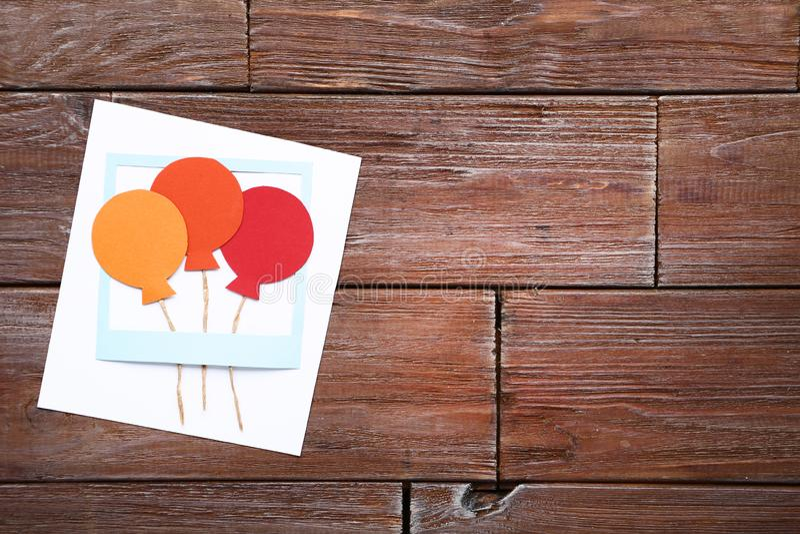 Cart?o Handmade imagem de stock royalty free