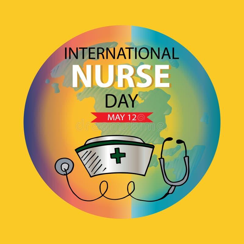 Cart?o internacional do dia da enfermeira ilustração royalty free