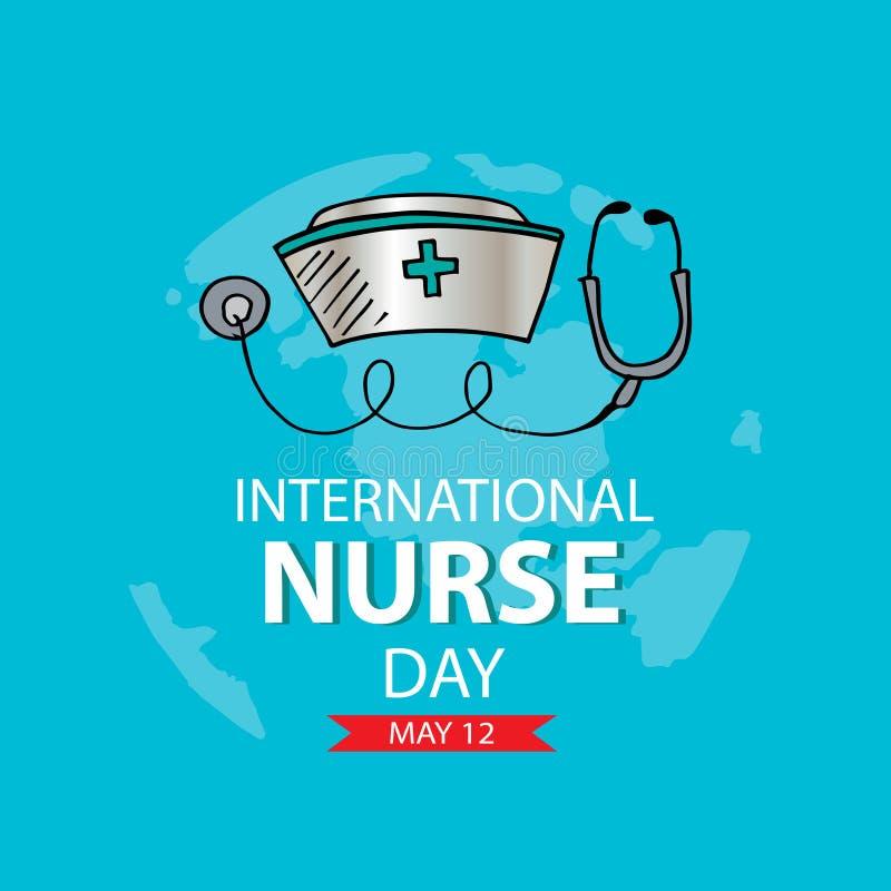 Cart?o internacional do dia da enfermeira ilustração do vetor