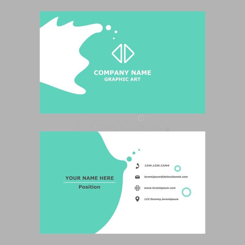 Cart?o moderno molde limpo do projeto para profissional, pessoal e a empresa ilustração do vetor