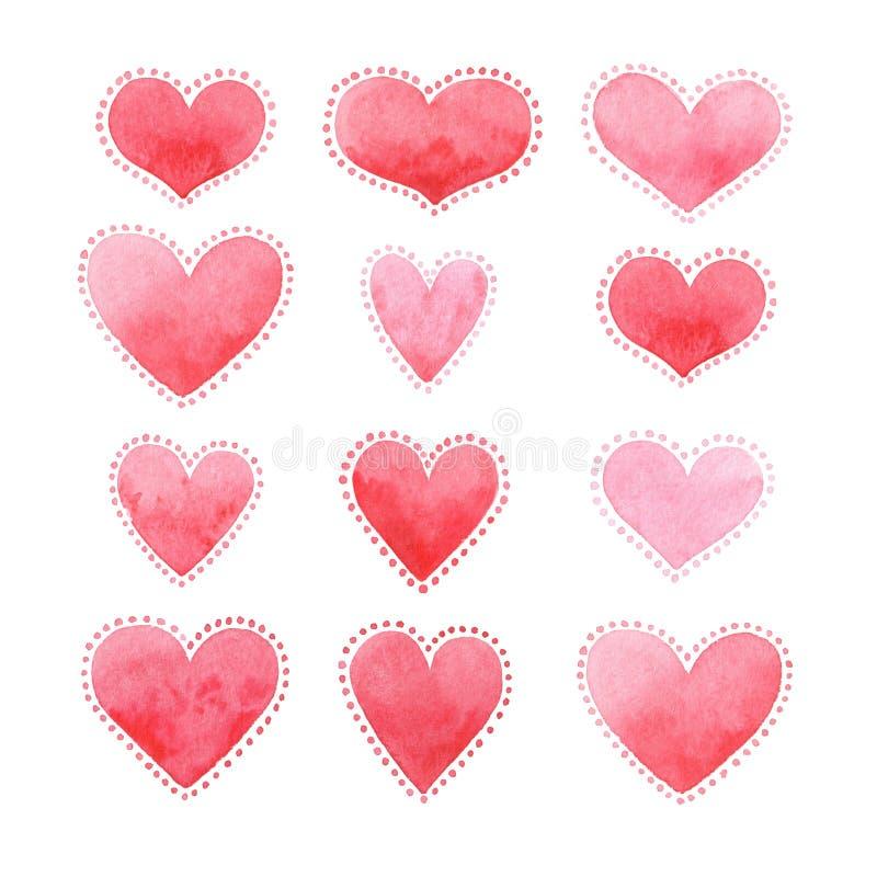 Cart?o para o dia do ` s do Valentim, aquarela, amor fotos de stock