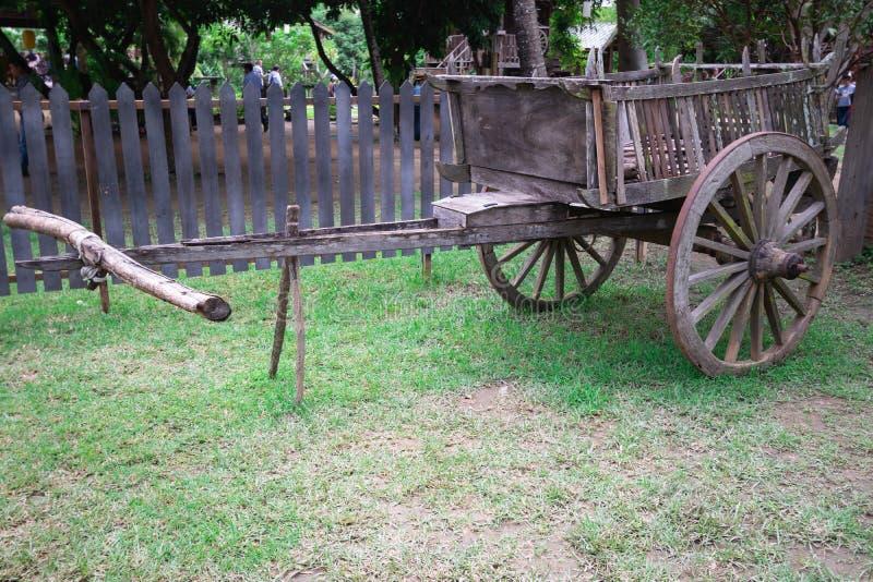 Cart Pour le bétail ou le buffle Pour le transport image libre de droits