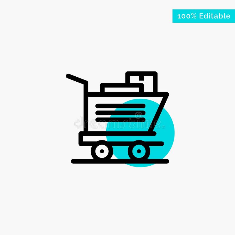 Cart, Shopping, Basket turquoise highlight circle point Vector icon vector illustration
