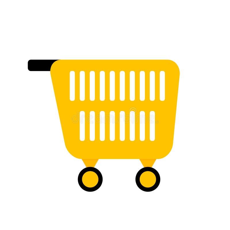 Cart for shopping. Shopping market web, carry pushcart, vector illustration stock illustration