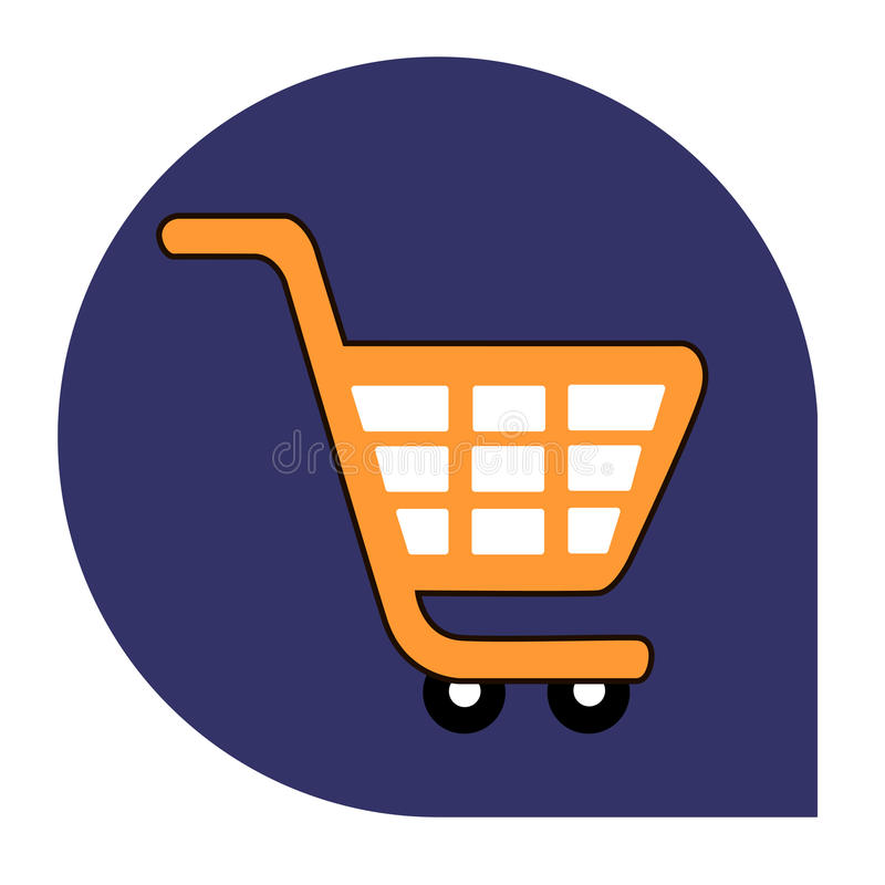 Cart or shopping icon of set tricolor stock images