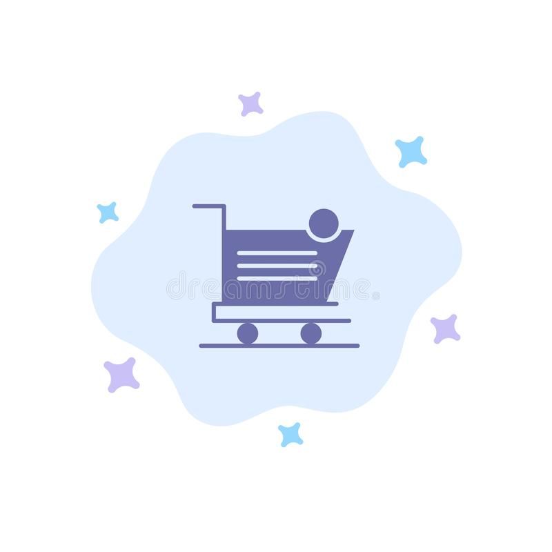 Cart, Shopping, Shipping, Item, Store Blue Icon on Abstract Cloud Background vector illustration