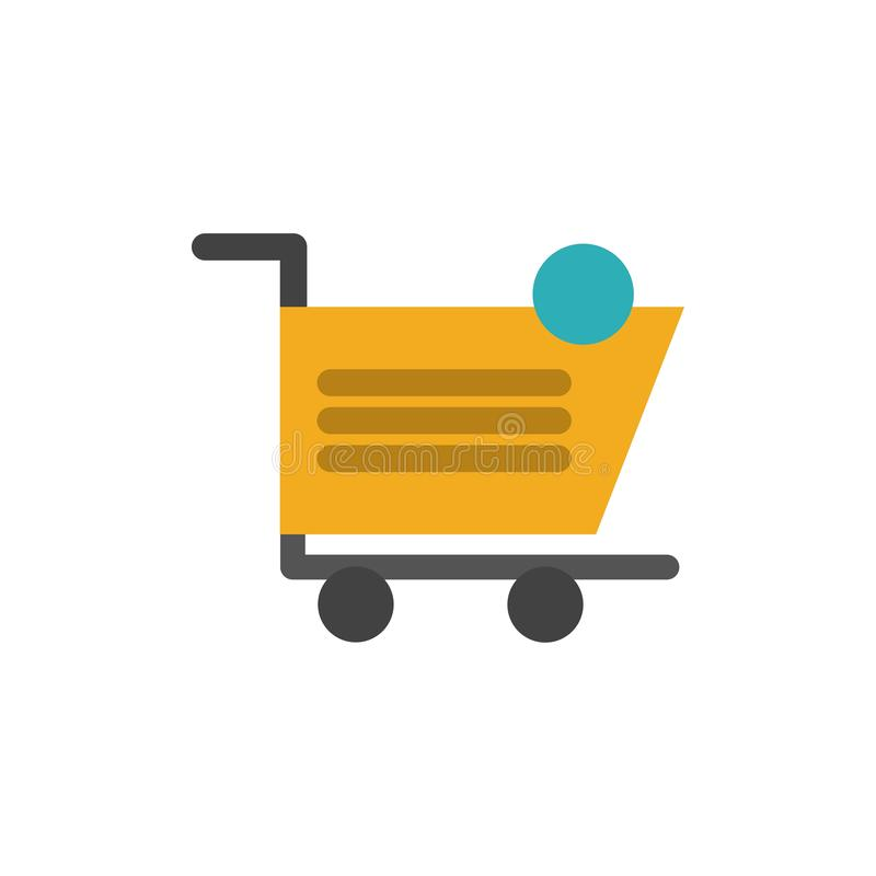 Cart, Shopping, Shipping, Item, Store  Flat Color Icon. Vector icon banner Template royalty free illustration