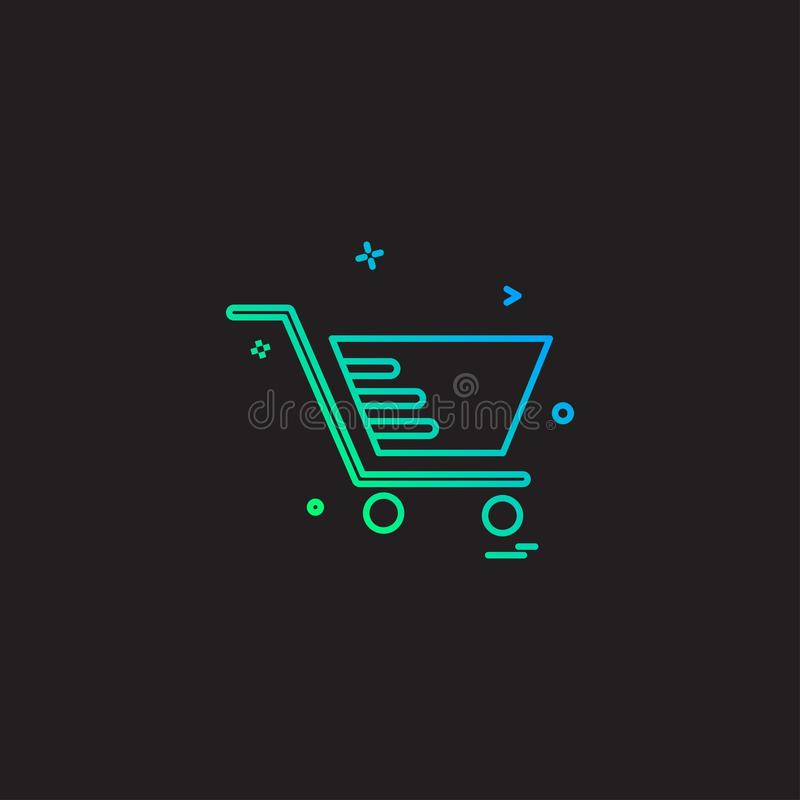 Cart shopping trolley buy icon stock illustration