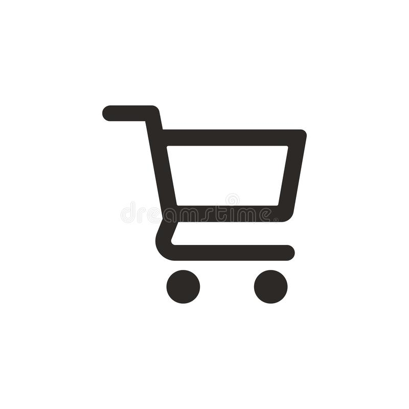 Cart, shopping vector icon. Simple element illustration from UI concept. Cart, shopping vector icon. Finance concept vector. Illustration. on white background vector illustration