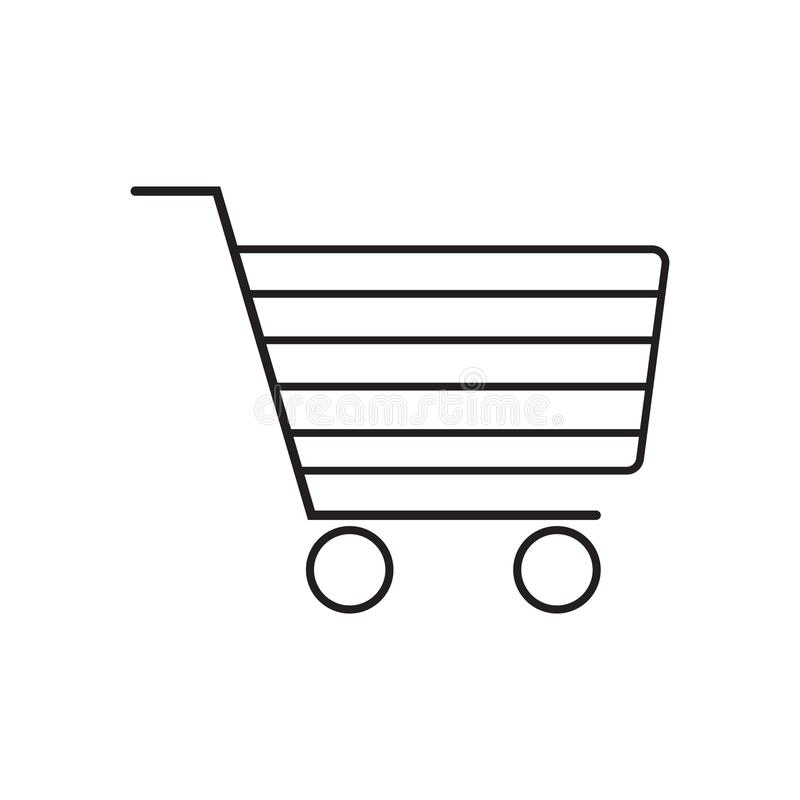 Shopping cart icon vector illustration. Free Royalty Images. A cart supplied by a shop, especially supermarkets, for use by customers inside the shop for vector illustration