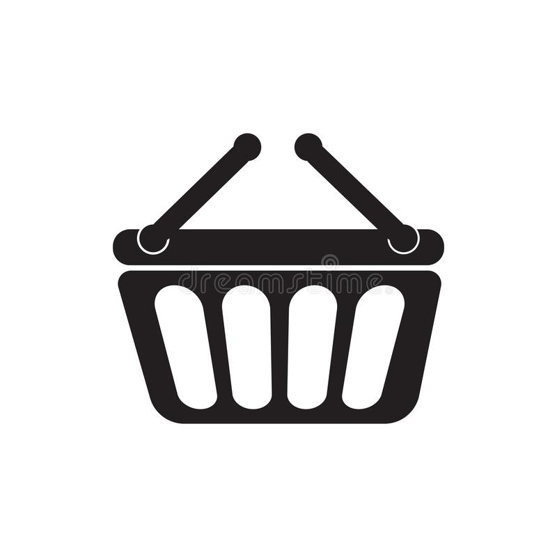 Shopping basket icon vector illustration. Free Royalty Images. A cart supplied by a shop, especially supermarkets, for use by customers inside the shop for vector illustration