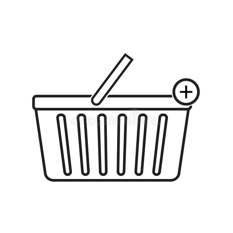 Add to shopping basket icon vector illustration. Free Royalty Images. A cart supplied by a shop, especially supermarkets, for use by customers inside the shop vector illustration