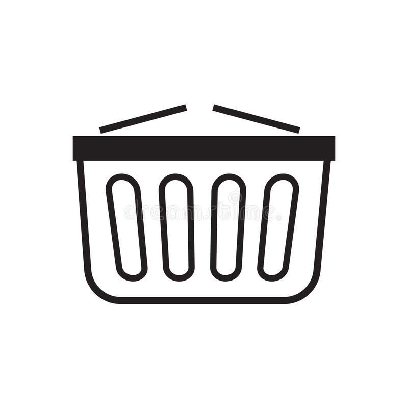 Shopping basket icon vector illustration. Free Royalty Images. A cart supplied by a shop, especially supermarkets, for use by customers inside the shop for stock illustration