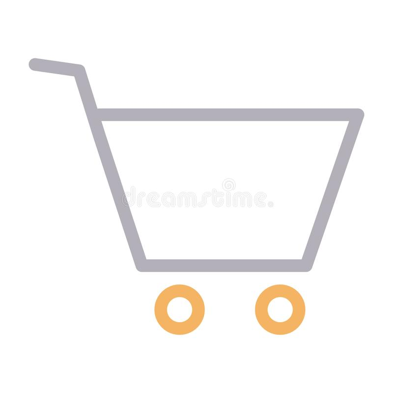 Cart thin color line vector icon vector illustration