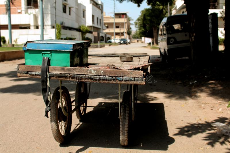 A Cart/Trolley of extra Thing/Materials. royalty free stock images