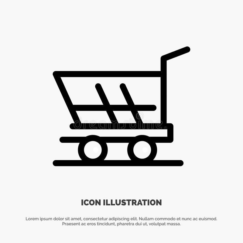 Cart, Trolley, Shopping, Buy Line Icon Vector royalty free illustration