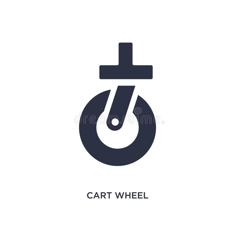cart wheel icon on white background. Simple element illustration from mechanicons concept royalty free illustration