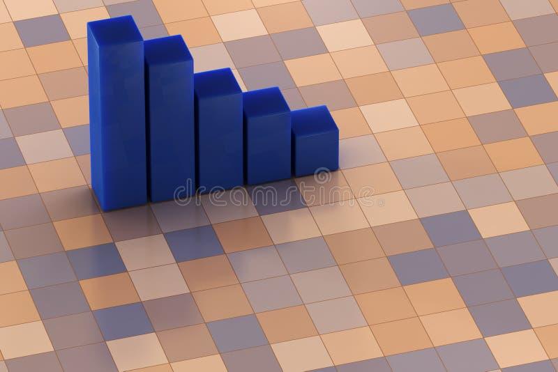 carta 3D ilustração stock