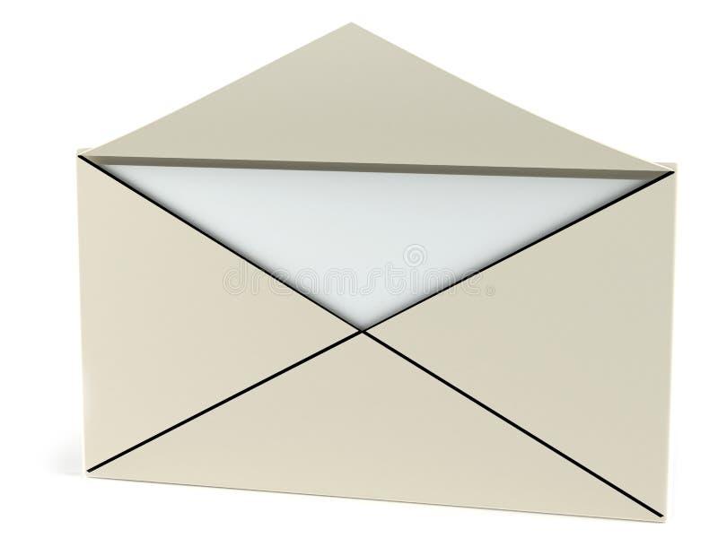Carta abierta ilustración del vector