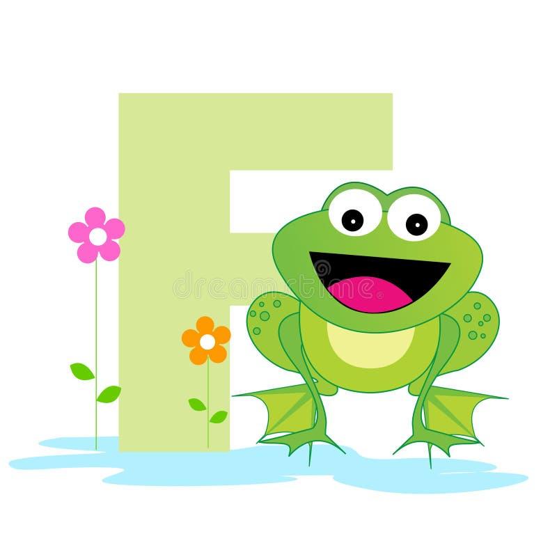Carta animal del alfabeto - F ilustración del vector