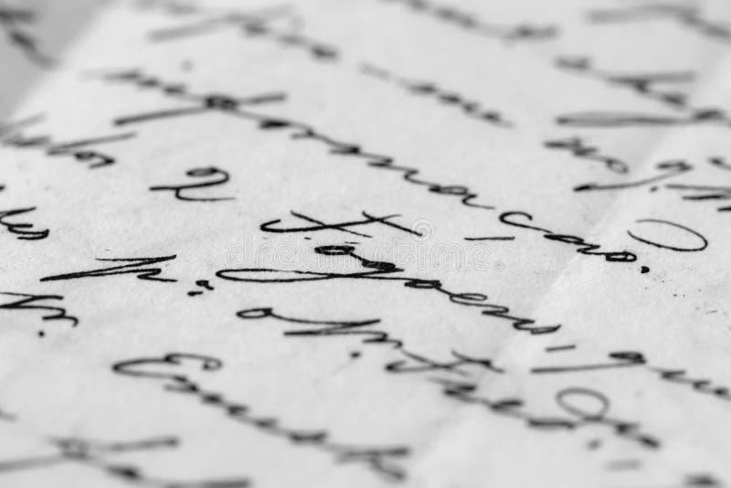 Carta antigua imagen de archivo libre de regalías