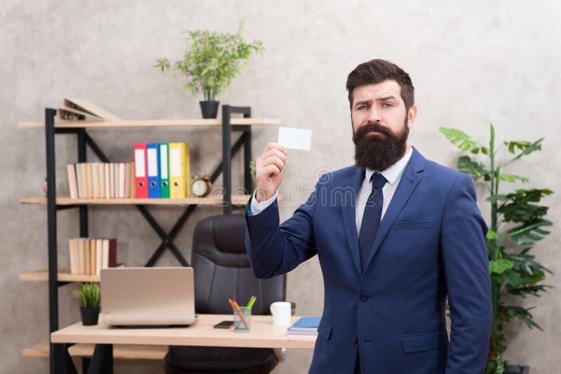 Carta barbuta di manifestazione del direttore generale dei pantaloni a vita bassa Servizi bancari per la piccola impresa Progetta fotografia stock