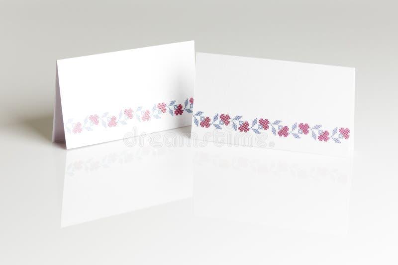 Carta in bianco del posto per la tavola di nozze immagini stock