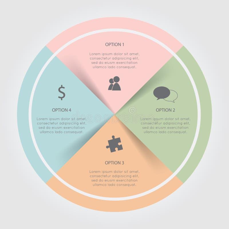 Carta circular da cor de Infographic ilustração royalty free