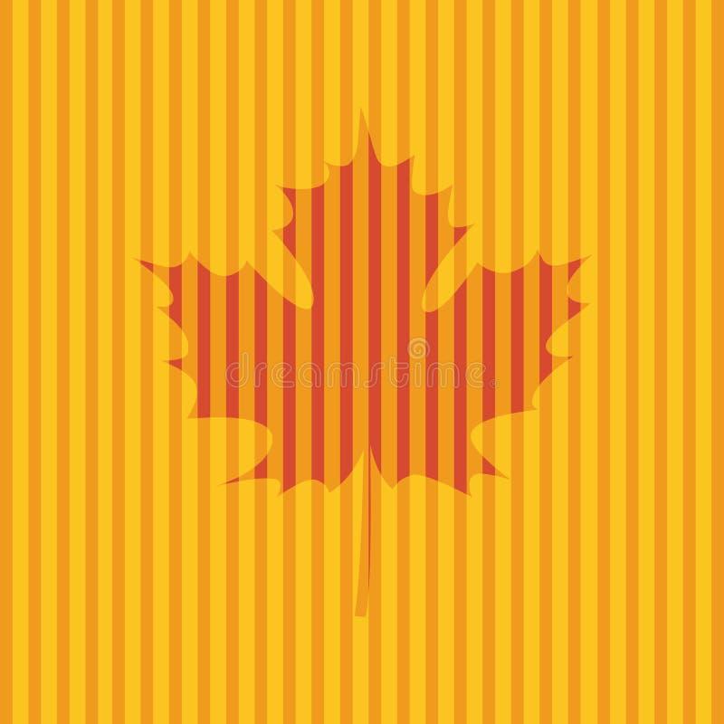 Carta con Autumn Maple Leaf illustrazione di stock