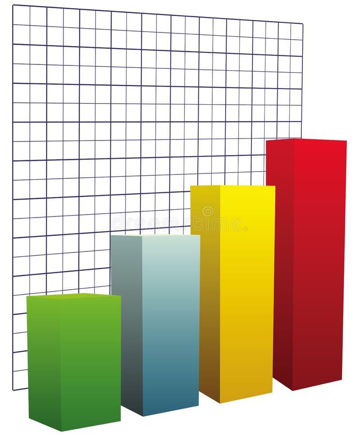 Carta con coordenadas de rejilla ilustración del vector