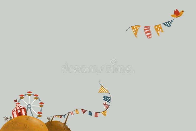 Carta con il carnevale illustrazione vettoriale