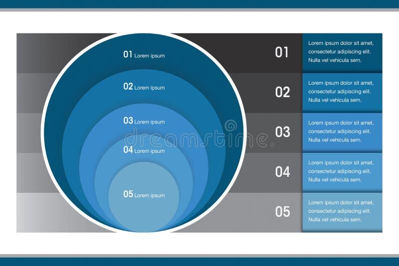 Carta creativa del círculo de Infographic imagen de archivo