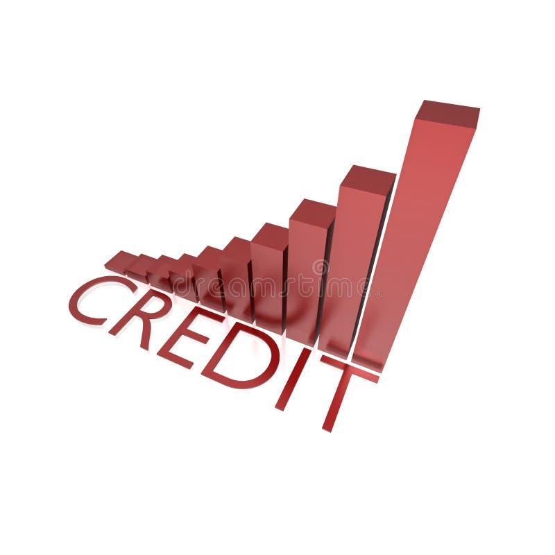 Carta crescente do crédito ilustração royalty free