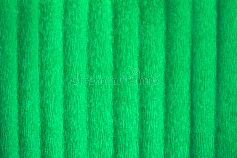 Carta crespa verde vuota, fondo strutturato astratto fotografia stock libera da diritti