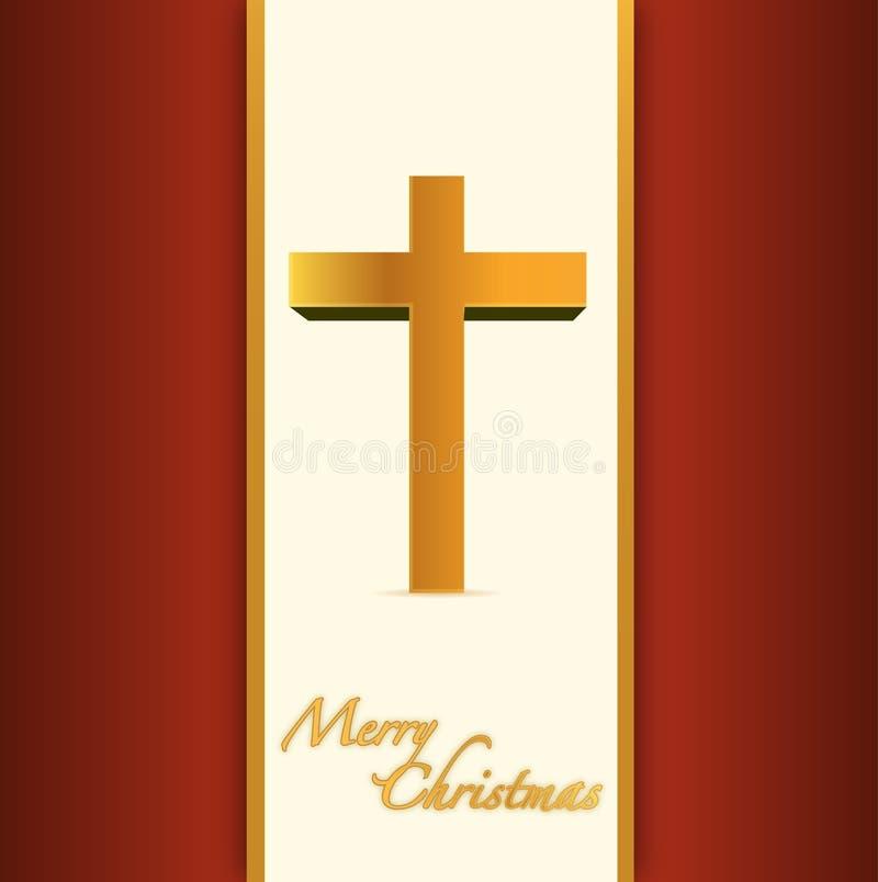 Carta cristiana o cattolica di Buon Natale. illustrazione vettoriale