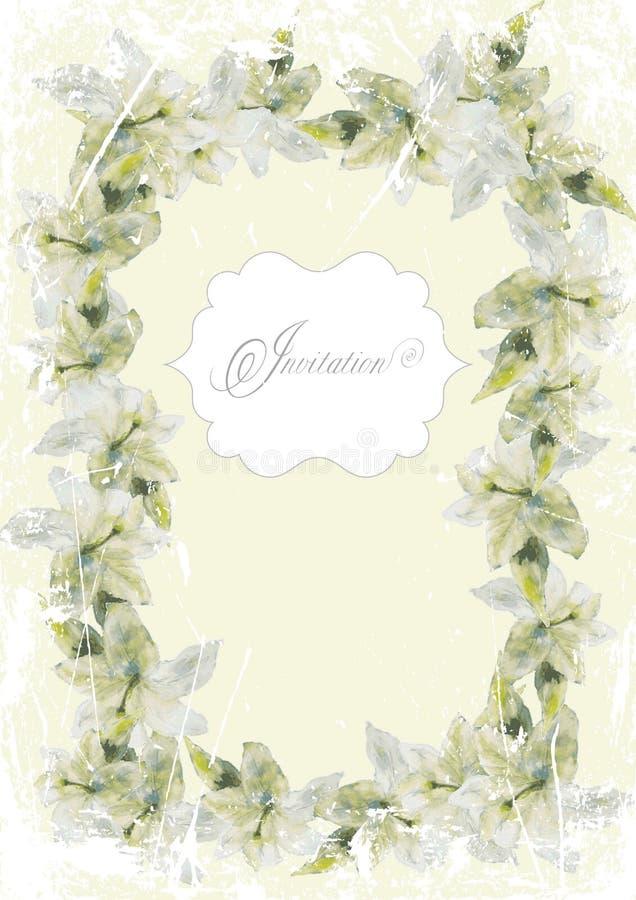 Carta d'annata con la struttura del fiore illustrazione di stock