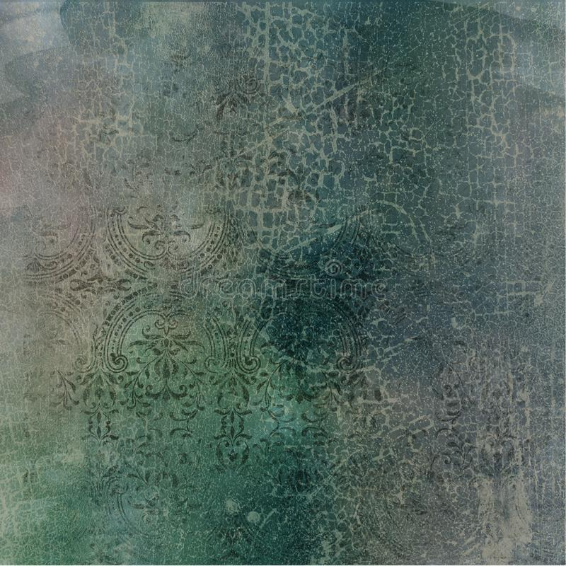 Carta d'annata del collage del fondo - Autumn Shades Abstract - - caduta - carta afflitta di Digital royalty illustrazione gratis
