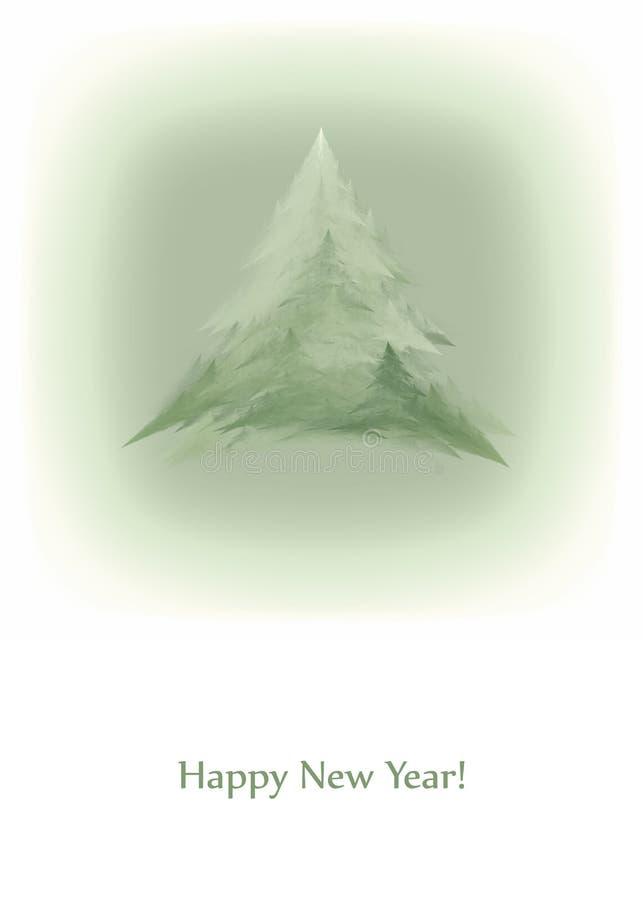 Carta d'annata del nuovo anno illustrazione vettoriale
