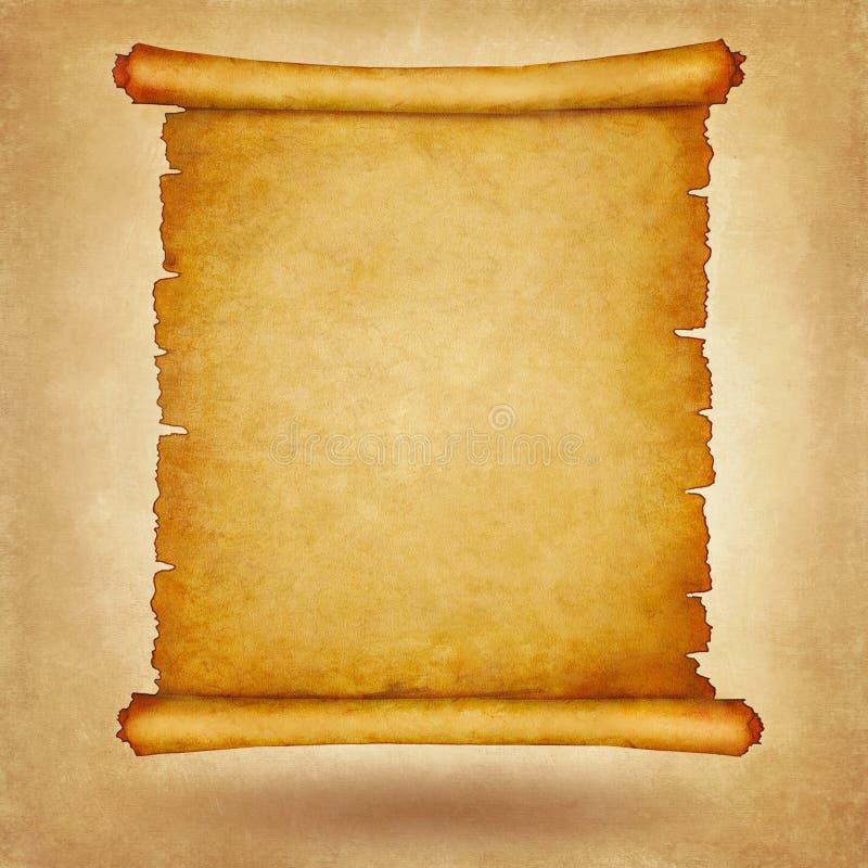 Carta d'annata del vecchio rotolo con spazio per testo o l'immagine illustrazione vettoriale