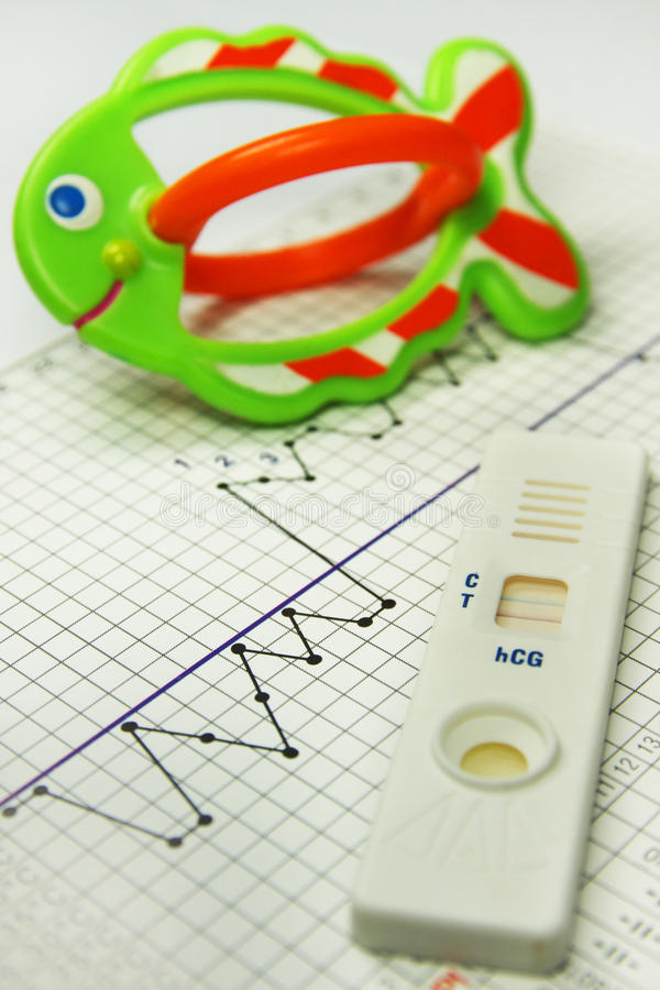 Carta da fertilidade. Teste de gravidez. Naprotechnology imagens de stock royalty free