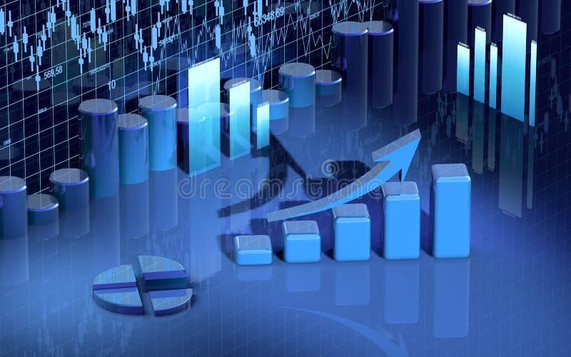 Carta da finança do negócio, diagrama, barra, gráfico ilustração stock