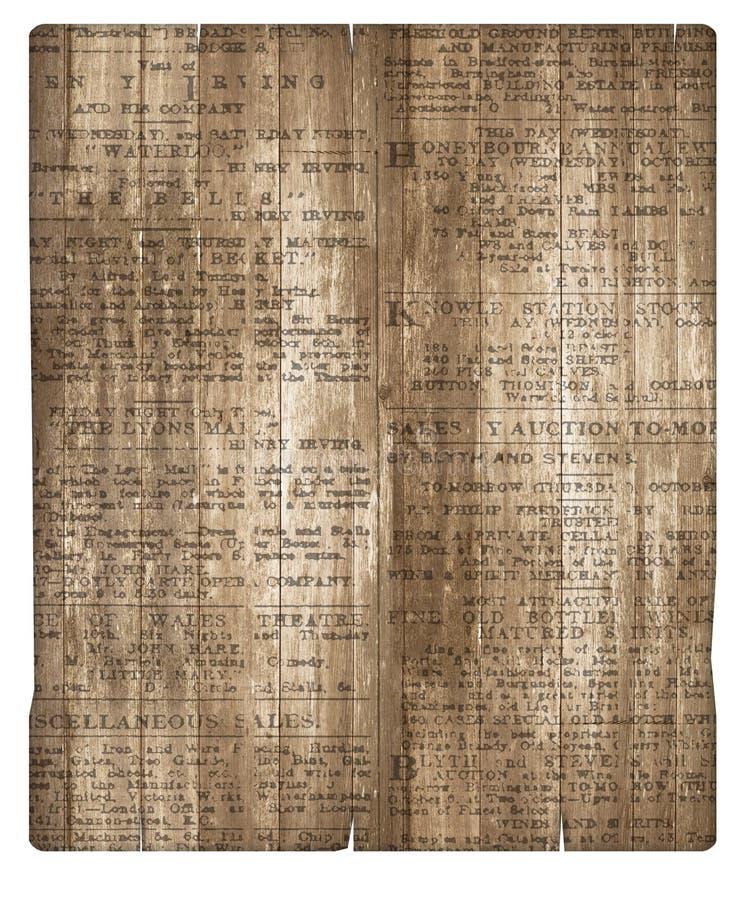 Carta da giornale di legno del fondo della pergamena immagini stock libere da diritti