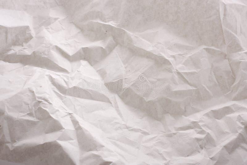 Carta da imballaggio spiegazzata fotografie stock libere da diritti