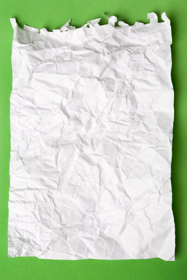 Carta da lettere bianca sgualcita immagine stock