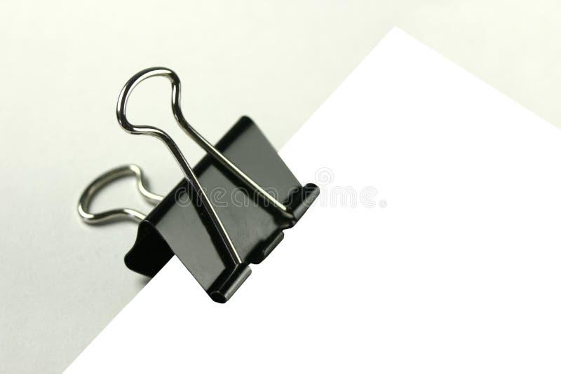 Carta da lettere in una clip immagini stock