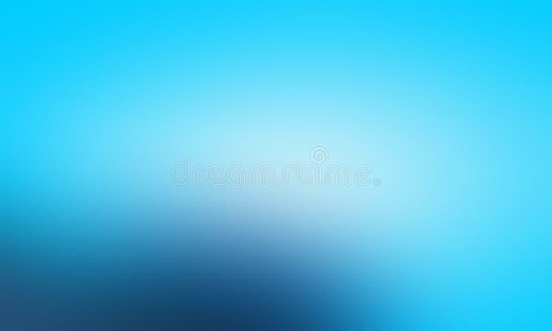Carta da parati astratta blu e bianca del fondo della sfuocatura di colori pastelli, illustrazione di vettore royalty illustrazione gratis