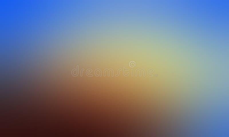 Carta da parati astratta blu e marrone del fondo della sfuocatura di colori pastelli, illustrazione di vettore illustrazione di stock