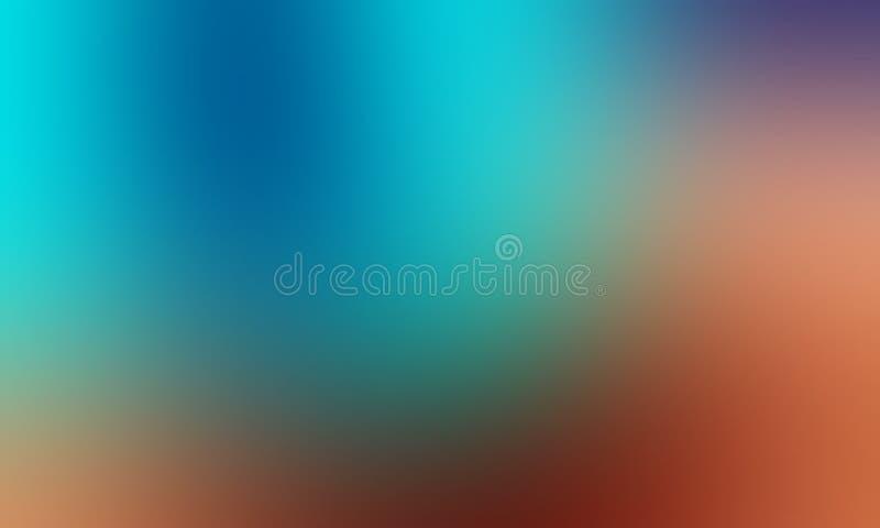 Carta da parati astratta blu ed arancio del fondo della sfuocatura di colori pastelli, illustrazione di vettore illustrazione vettoriale