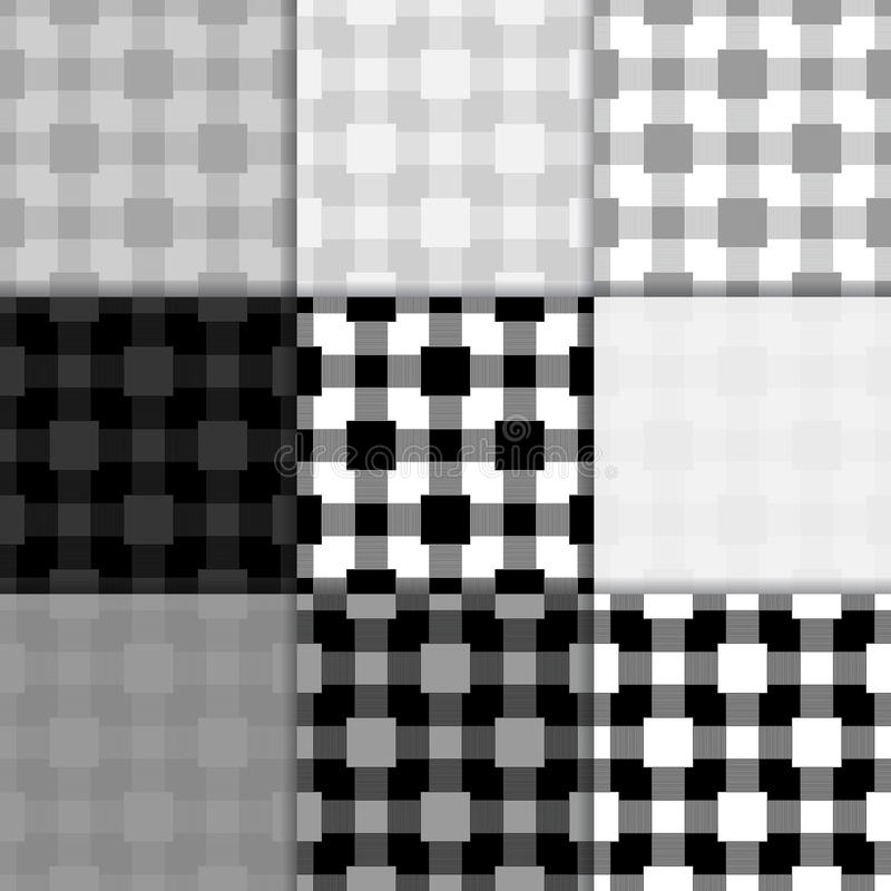 Carta da parati in bianco e nero a quadretti Reticolo senza giunte illustrazione di stock