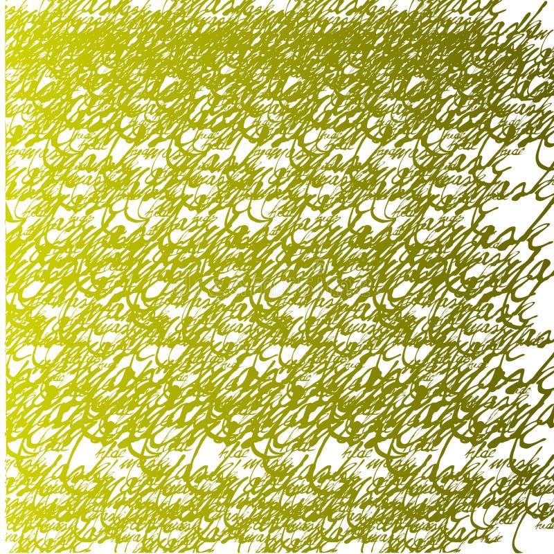 Carta da parati calligrafica senza giunte illustrazione vettoriale